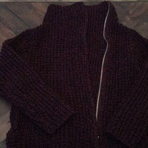 Cotton sweater coat
